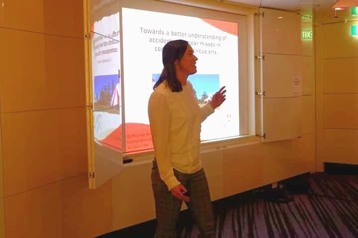 Dr. Fleur van Rens presenting at ASPAH conference